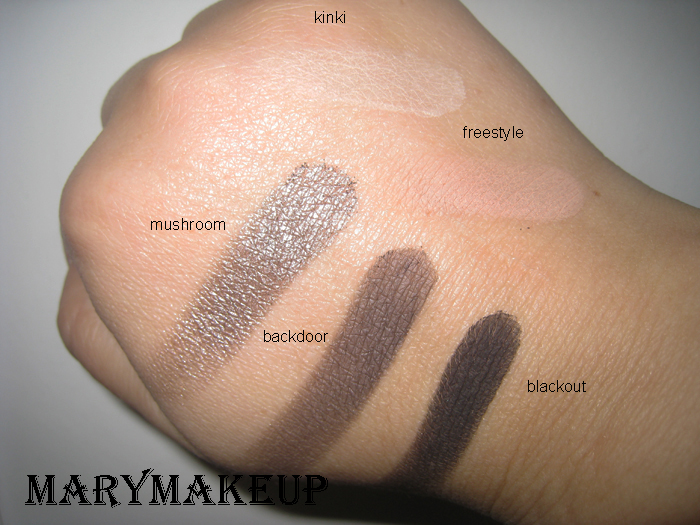 Swatches Urban Decay Smoked Palette
