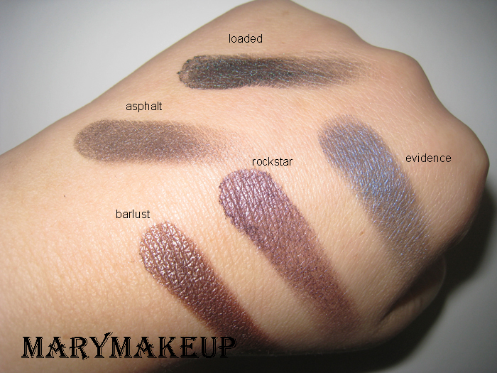 Swaches Urban Decay Smoked Palette