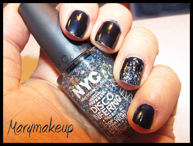 Disco Inferno Glitter Top Coat NYC