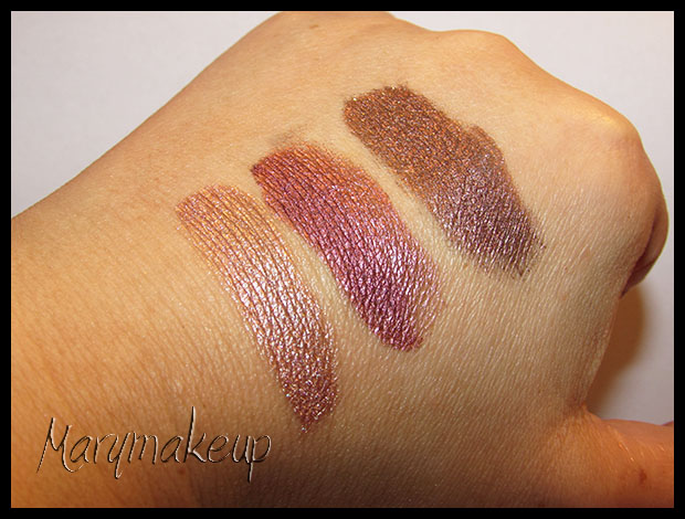Bella Pierre Cosmetics - Earth, Diligence, Jadoo Swatches