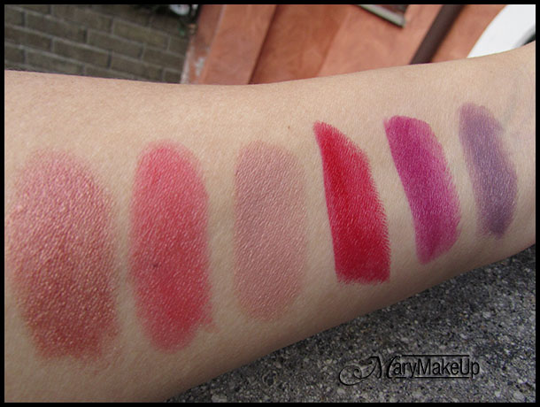 Miss Broadway Smart Kiss Lipsticks - swatches alla luce naturale