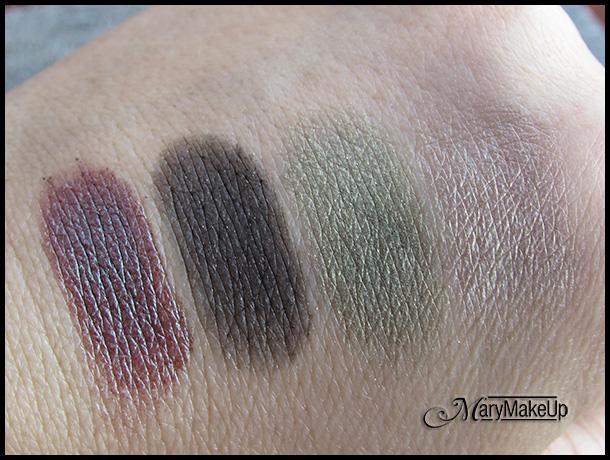 Wet 'n Wild Confort Zone eyeshadow palette - swatches alla luce naturale
