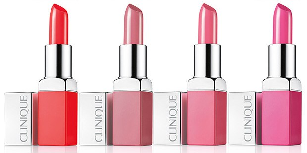 Clinique Pop Lip Colour: Poppy Pop, Fab Pop, Sweet Pop e Wow Pop