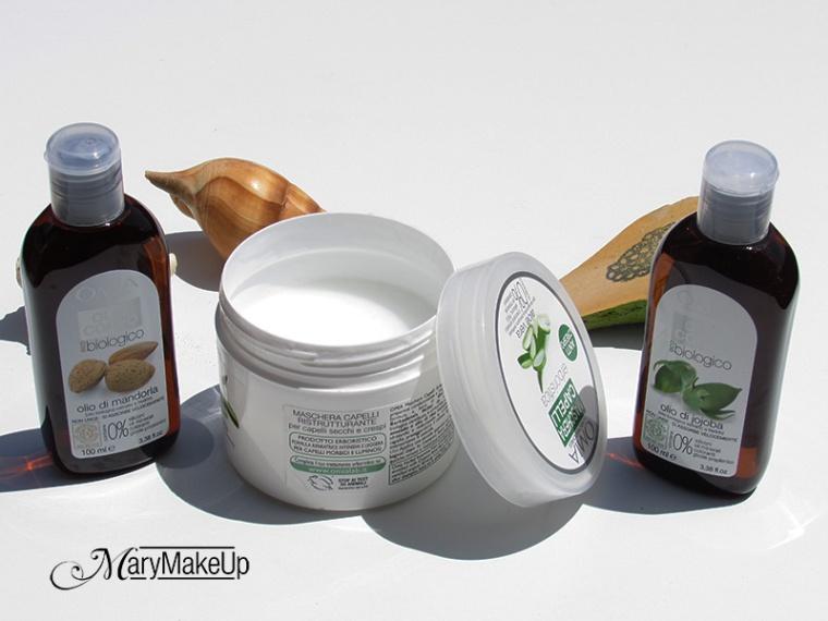 Maschera ristrutturante Aloe Vera, Olio di jojoba e Olio di Mandorla della Omia