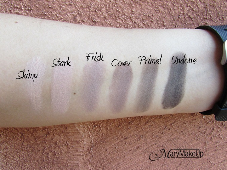 Urban Decay Naked Basic2 swatches no base