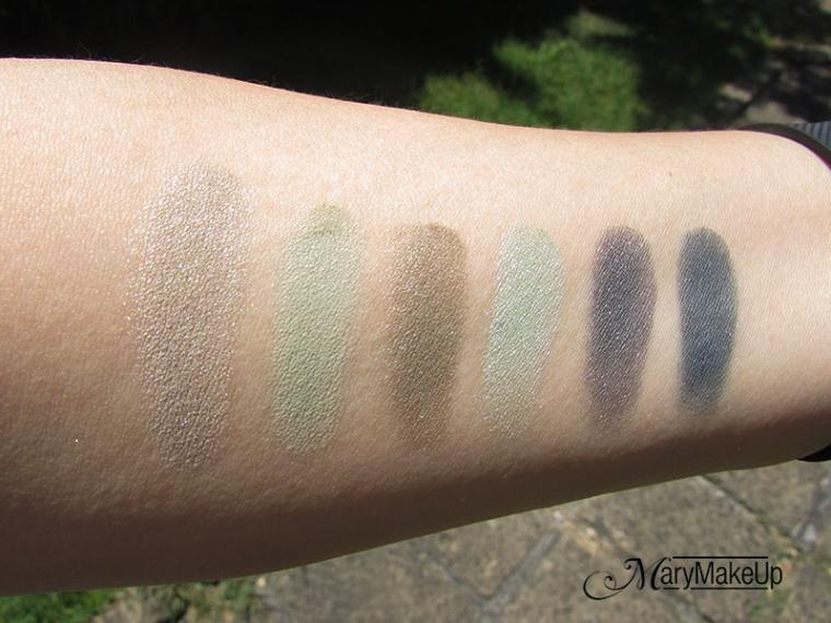 Green Smokey Eye Palette Deborah Milano - swatches