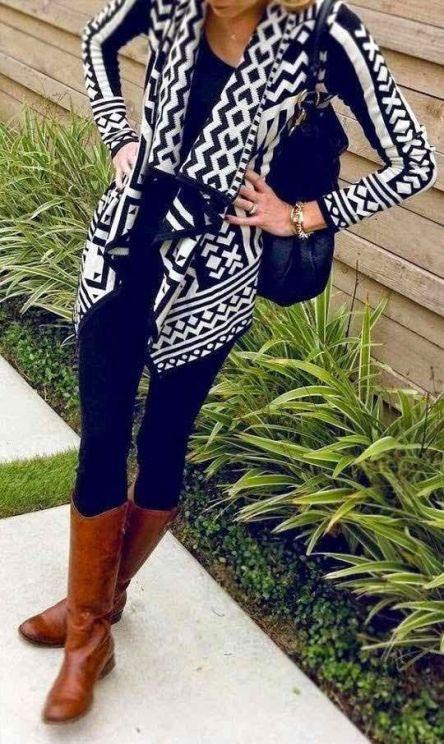 street-style-pattern-print-cardigan
