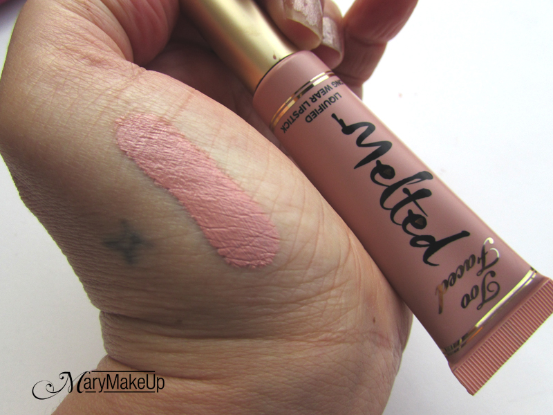 Too Faced Melted Sugar Swatches