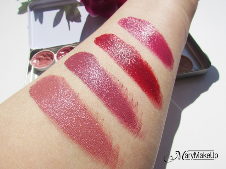 Kryolan Lip Rouge Palette - swatches