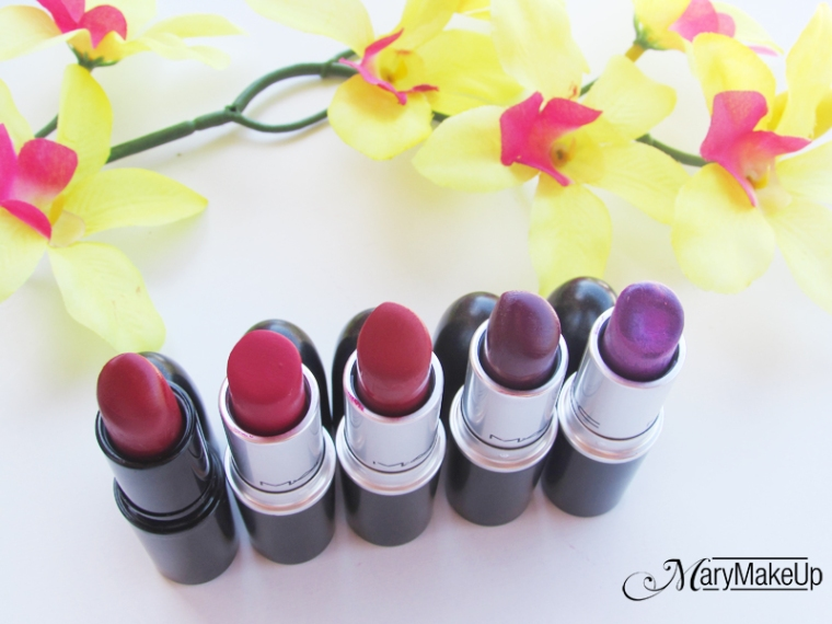 My Mac Cosmetics Lipsticks Collection