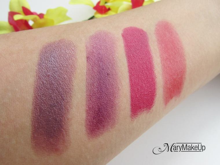 Deborah Milano Lipsticks Collection Swatches